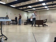 Rehearsal from the sidelines.