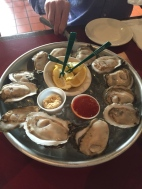 $8 for 12 oysters. UNREAL.