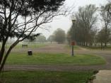 Foggy mornings.